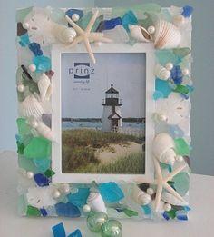sea shells crafts ideas | sea shell beach frame | Craft Ideas