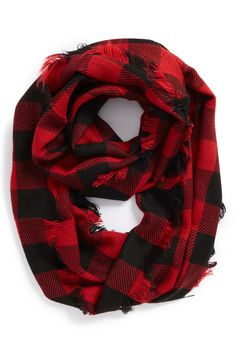 Buffalo Plaid Infinity Scarf by Steve Madden on @nordstrom_rack