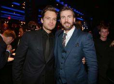 Sebastian Stan and Chris Evans- new fav bromance