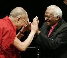 The Dali Lama & Archbishop Desmond Tutu - A of a lifetime! Dali Lama: My religion is very simple, my religion is kindness. Desmond Tutu, Dalai Lama Biography, Victoria, Madame, Change The World, Good People, Black History, A Good Man, Compassion