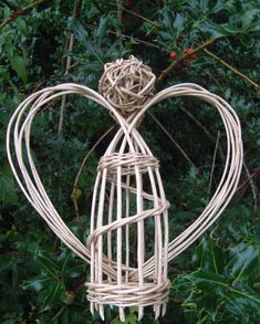 White Willow angel. Perfect for the festive season. Something fun to decorate the house with at Christmas that is natural, rustic and magical. Use as a table decoration, light up wings with fairy lights, put this angel on top of a tree..... 20 or 50cm high approx and wingspan 20 or