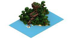 Isometric Minecraft Jungle house by CarlKempe.deviantart.com on @deviantART