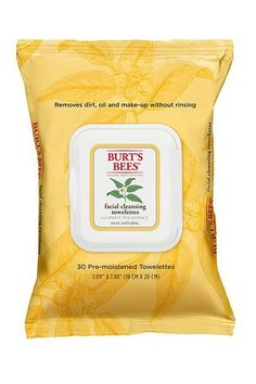 Burt's Bees Facial Cleansing Towelettes with White Tea Extract,