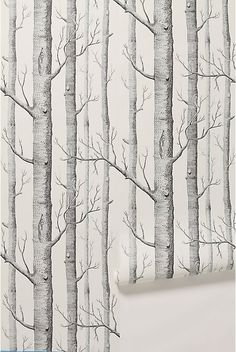 54 ideas birch tree wallpaper bedroom hallways for 2019 Tree Wallpaper Living Room, Tree Wallpaper Nursery, Birch Tree Wallpaper, Kitchen Wallpaper, Paper Wallpaper, Nature Wallpaper, Wallpaper Decor, Wallpaper Quotes, Birch Tree Mural