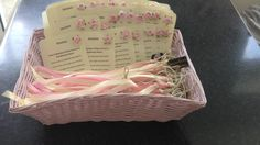 Directions & car ribbon for guests at wedding