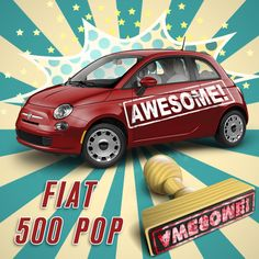 Just one of the many words to describe the 2015 Fiat 500 Pop! Drive home with one today at where you can 2015 Fiat 500, Fiat 500 Pop, Words To Describe, Car, Automobile, Cars, Autos