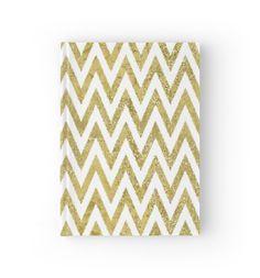 Glittery Gold and White Chevron Stripes   von pencreations