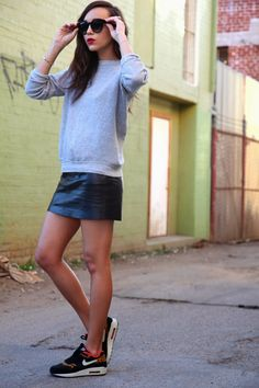 "From Ashely Madekwe's ""Ring My Bell"" blog. Air max and leather are a fascinating combination.. Who knew?"