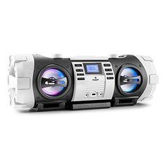 Impresionante ghettoblaster con altavoces con iluminación led en 3 colores, variadas posibilidades de conexión y bluetooth.Con una potencia máx. de 40W, 2 subwoofers regulables por separado, radio FM, entrada USB, unidad CD y entrada AUX. Además 30 memorias libres, funciones CD programables y có... http://altavocespara.com/coche/auna/auna-soundblaster-l-estereo-portatil-con-bluetooth-40-w-look-industrialciencia-ficcion-usb-cd-aux-radio-fm-altavoces-iluminados-funcion-bas