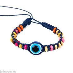 JP 1PC New Women Fashion Hand-Woven Turkish Blue Devil's Eye Jewelry Bracelet