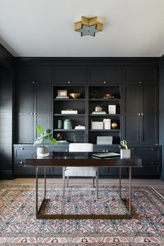 Beautiful Home Office Ideas That Will Make You Wish To Work All The Time - Experts disclose home office decoration suggestions that assist you make best use of space and creativity. Home Office Design, Home Office Decor, House Design, Home Decor, Office Ideas, Office Designs, Office Layouts, Apt Ideas, Home Office Lighting