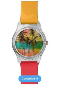 Tropical Beach Watch http://www.zazzle.com/beachhutsands?pg=2