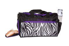 Horizon Dance 6020 Dancer Medium Embroidered Duffel Bag with Shoe Compartment Duffel Bag, Stripe Print, Dance Wear, Diaper Bag, Gym Bag, Dance Bags, Dancer, Medium, Shoe