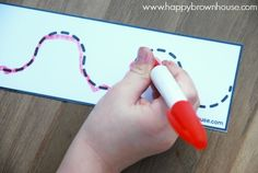 This free printable tracing lines busy bag for preschoolers is a great…