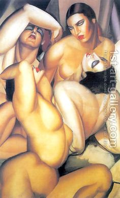Tamara de Lempicka (inspired by):Group of Four Nudes, c.1925