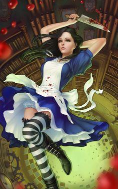 Alice – Alice: Madness Returns fan art by Dmitry Grebenkov Alice Liddell, Alice Madness Returns, Lewis Carroll, Dark Alice In Wonderland, Adventures In Wonderland, Dark Fantasy, Fantasy Art, Games Tattoo, Chesire Cat