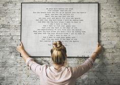First Dance Lyrics Framed Print - Wedding Vow Wall art - 11 x 14 / Framed Print