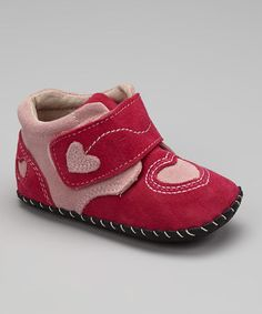 Take a look at this Fuchsia & Light Pink Lilah Soft-Sole Ankle Boot by pediped on #zulily today!