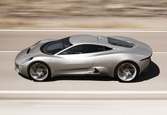 Jaguar's prototype plug-in hybrid car. Sexy and powered by turbines and electric motors!