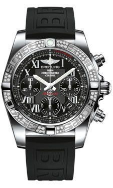 22047eb0632 Breitling Chronomat 41 Steel Dia Bezel Diver Pro III Strap Tang  AB0140AA BC04
