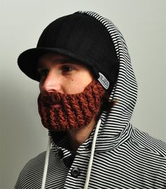 Beardo - $38.99 // hat with detachable knit beard