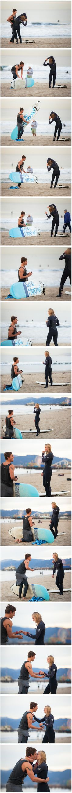 Surfboard proposal http://howheasked.com/surfing-marriage-proposal