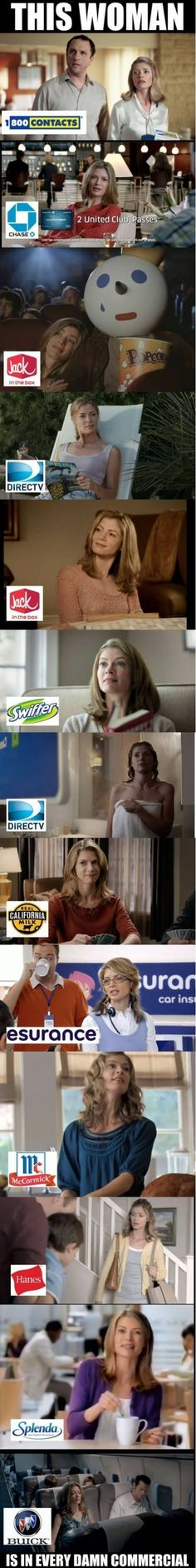 I'm looking for her during superbowl ads.