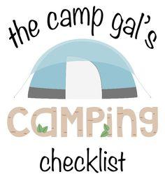 Camping checklist!