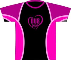 DV8 Diva Black/Pink Dye Sublimated Jersey. This Diva jersey is mirrored off of Style 0001!  DV8 Diva logo full front and full back.