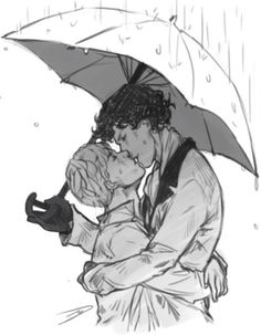 Sherlock x John (I bet it's Mycrofts umbrella... but no, he would never leave his umbrella to someone else, especially not to Sherlock ;) )