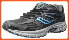 Saucony Women's Cohesion TR9 Trail Running Shoe, Grey/Black/AQ, 5.5 M US - Athletic shoes for women (*Amazon Partner-Link)