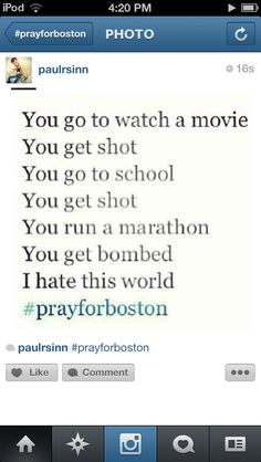 This is just horrible!!!!  #prayforboston