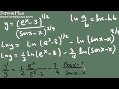Derivación logarítmica parte 1