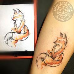 Fox Tattoo Design, Mermaid Tattoo Designs, Simple Tattoo Designs, S Tattoo, Body Art Tattoos, Cool Tattoos, Tatoos, Stencils Tatuagem, Tattoo Stencils