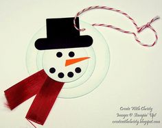 Stampin' Up! Snowman Tag - Create With Christy - Christy Fulk, Stampin' Up! Demo