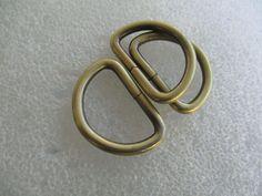 Metal Dee Rings unwelded Black 33x23mmOD for 25mm wide straps, attachers, bags #JaszitupleatheraccentsJiula