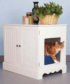 Take a look at this Pet Studio Newport White Litter Box Cabinet by MVS on #zulily today!