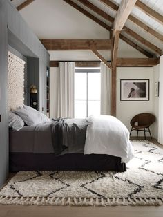 Master bedroom at Fox Hall, a Passive House by BarlisWedlick | Remodelista