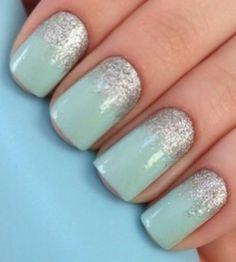 253 Best Mint Nails Images Fingernail Designs Mint Nails Mint