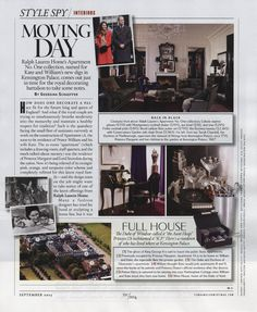 September's Town & Country celebrates Ralph Lauren Home's new Fall collection, Apartment, No. One