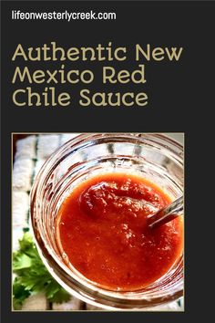 Authentic New Mexico Red Chile Sauce. This Spicy New Mexico Red Chile Sauce is perfect for eggs, huevos rancheros, burrito's, stuffed poblano peppers and so much more! I like it on pretty much everything!
