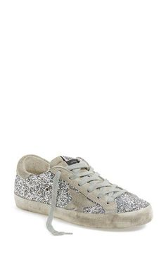 605 Golden Goose 'Superstar' Glitter Sneaker (Women) available at #Nordstrom