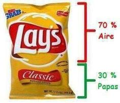 70% Air - 30% potatoes (that are not) / Y lo peor es que las papas tampoco son papas...