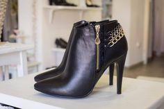 Black ankle boots Black Ankle Boots, Heels, Fashion, Bebe, Heel, Moda, Black Booties, Short Black Boots, La Mode