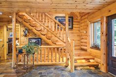 A new interior design collection from the rustic style featuring 20 Uplifting Rustic Staircase Designs That You Can't Dislike. Rustic Staircase, Wooden Staircases, Modern Staircase, Staircase Design, Spiral Staircase, Log Home Plans, Barn Plans, House Plans, Log Home Interiors