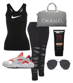 """""""Gym or errands"""" by itsmaggie4 on Polyvore featuring NIKE, Chanel and Beauty Treats"""