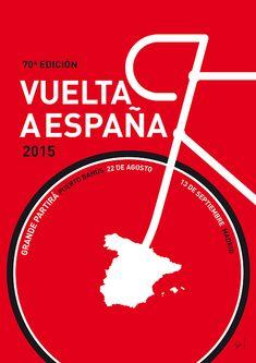 My Vuelta A Espana Minimal Poster 2015 by Chungkong Art Bike Logo, Poster Online, Bike Poster, Tour Posters, Film Posters, Minimal Poster, Bicycle Art, Cycling Art, Cycling Jerseys