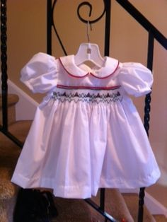 My first smocked dress I completed on my own. Girls Dresses, Flower Girl Dresses, Heirloom Sewing, Smocking, Students, Ruffle Blouse, Wedding Dresses, Kids, Women