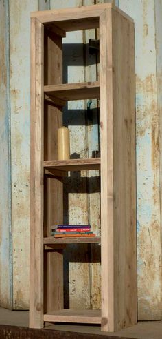 Build a shelf from recycled scaffolding boards to display your plants