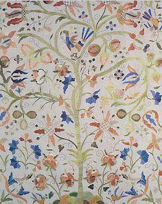 Traditional Portuguese embroidery - Bordado de Castelo Branco, silk embroidery